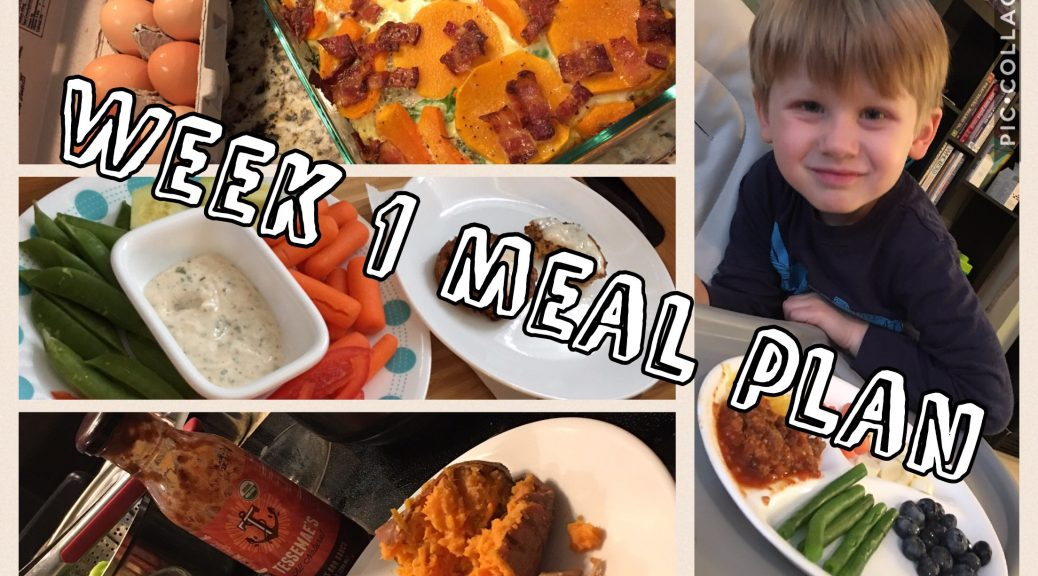 Week 1 Whole30 Meal Plan
