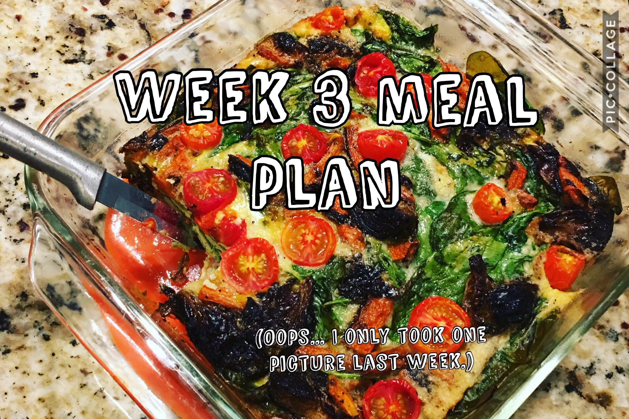 Week 3 Whole30 Meal Plan