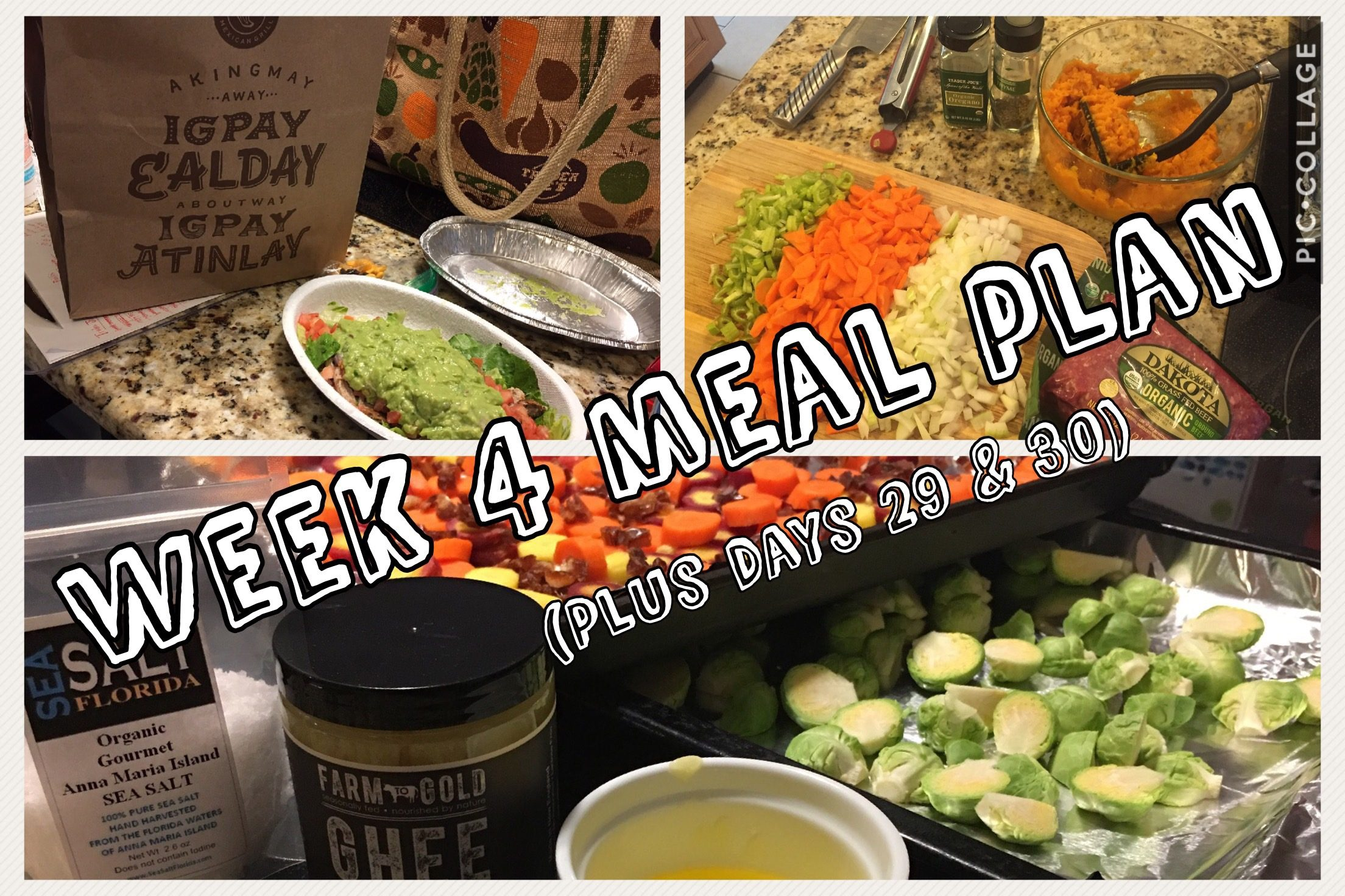 Week 4 Whole30 Meal Plan – Just One More Week!